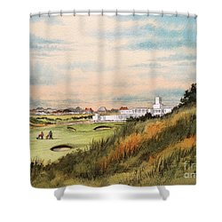 Royal Birkdale Golf Course 18th Hole Shower Curtain by Bill Holkham
