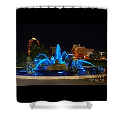 Royal Blue J. C. Nichols Fountain  Shower Curtain