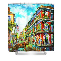 Royal Carriage - New Orleans French Quarter Shower Curtain