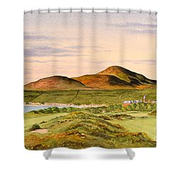 Shower Curtain featuring the painting Royal County Down Golf Course by Bill Holkham