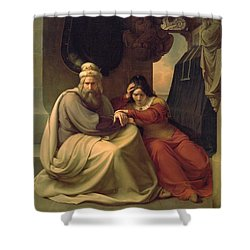 Royal Couple Mourning For Their Dead Daughter Shower Curtain by Carl Friedrich Lessing