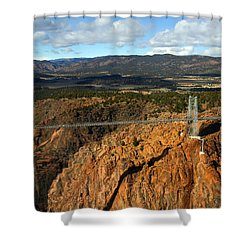 Royal Gorge Shower Curtain by Anthony Jones