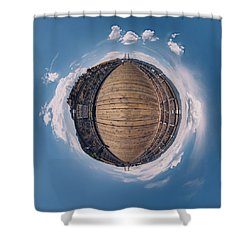 Royal Gorge Bridge Tiny Planet Shower Curtain