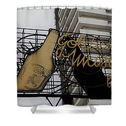 Royal Guard Cerveza And Golden Music Sign Shower Curtain