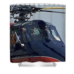 Shower Curtain featuring the photograph Royal Helicopter by Travel Pics