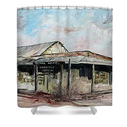 Royal Hotel, Birdsville Shower Curtain