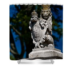 Royal Lion Shower Curtain by Christopher Holmes