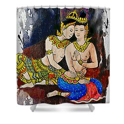 Royal Lovers Of Siam  Shower Curtain by Ian Gledhill