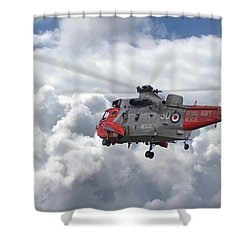 Shower Curtain featuring the photograph Royal Navy - Sea King by Pat Speirs