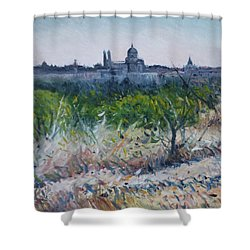 Royal Palace Madrid Spain 2016 Shower Curtain by Enver Larney