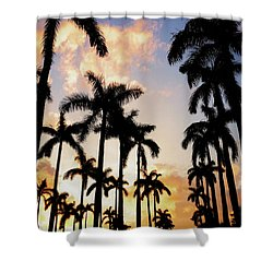 Royal Palm Way Shower Curtain