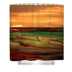 Royal Palms Beach At White Point Shower Curtain
