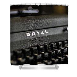 Royal Typewriter #19 Shower Curtain