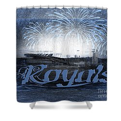 Shower Curtain featuring the photograph Royals by Andee Design
