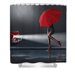 Rainy Day Shower Curtain by Monika Juengling