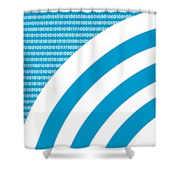 Shower Curtain featuring the digital art Rss Binary Pattern - Pick Your Color by Mark E Tisdale