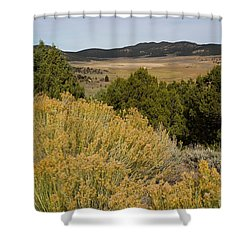 Rt 72 Utah Shower Curtain by Cindy Murphy - NightVisions