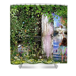 Ruach Ha-kodesh Shower Curtain by Dolores Develde