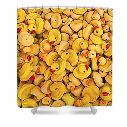 Rubber Duckies Shower Curtain