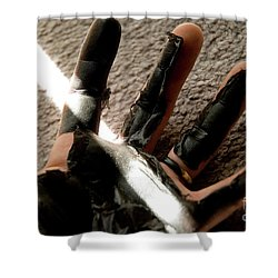 Shower Curtain featuring the photograph Rubber Hand by Micah May
