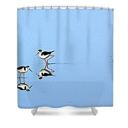 Shower Curtain featuring the photograph Rubber Legs by AJ Schibig