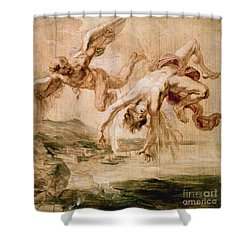 Rubens:fall Of Icarus 1637 Shower Curtain by Granger