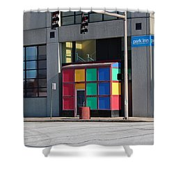 Shower Curtain featuring the photograph Rubik Shelter by Michiale Schneider