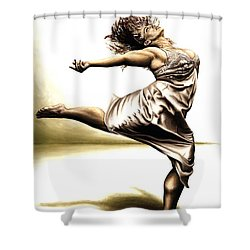 Rubinesque Dancer Shower Curtain by Richard Young