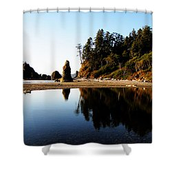 Ruby Beach Reflections Shower Curtain