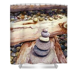 Ruby Beach Shower Curtain