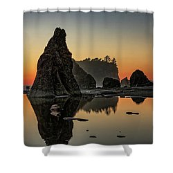 Ruby Beach At Sunset Shower Curtain