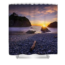 Ruby Beach Dreaming Shower Curtain