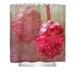Ruby Colored Orchid Shower Curtain