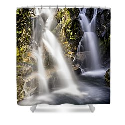 Shower Curtain featuring the photograph Ruby Creek Lower Falls Mt Rainier by Rob Green