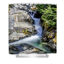 Ruby Creek Mt Rainier Shower Curtain