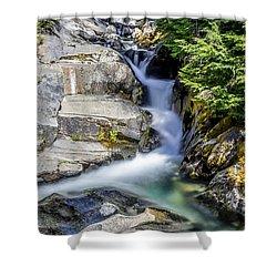 Ruby Creek Mt Rainier Shower Curtain by Rob Green