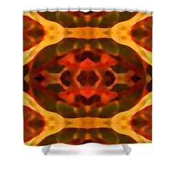 Ruby Crystal Pattern Shower Curtain by Amy Vangsgard