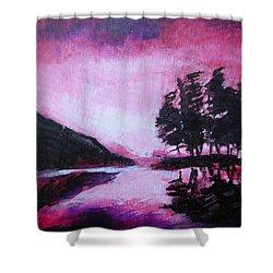 Ruby Dawn Shower Curtain by Seth Weaver