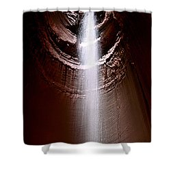 Ruby Falls Shower Curtain by Debra Forand
