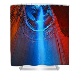 Ruby Falls Waterfall 3 Shower Curtain by Mark Dodd