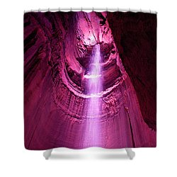 Ruby Falls Waterfall 5 Shower Curtain by Mark Dodd