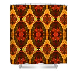 Ruby Glow Pattern Shower Curtain by Amy Vangsgard