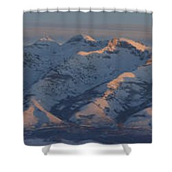Ruby Mountains Panorama Shower Curtain