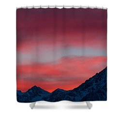 Ruby Skies Shower Curtain
