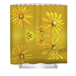 Shower Curtain featuring the photograph Rudbekia Yellow Flowers by David French