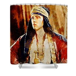 Rudolph Valentino As The Sheikh Shower Curtain