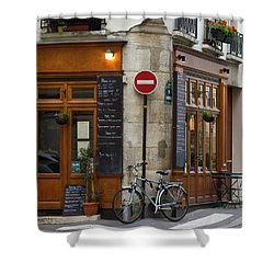 Rue De La Colombe - Paris Photograph Shower Curtain