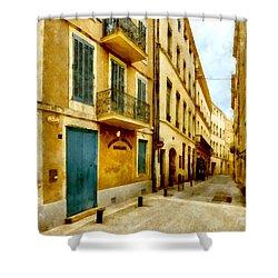 Shower Curtain featuring the photograph Rue De La Violette by Scott Carruthers