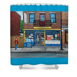 Rue Du Centre Depanneur Shower Curtain