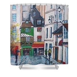 Rue Galande, Paris Shower Curtain